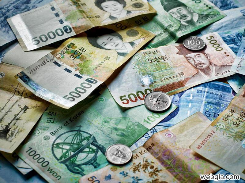 Tỷ giá KRW - Won Hàn Quốc - South Korean Won mới nhất ngày hôm nay - Web giá